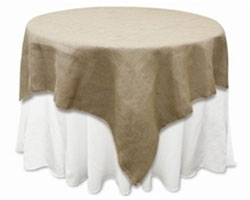 Burlap table linens (Jute & Polyester)