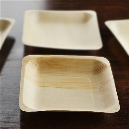 25 Pack - Eco-friendly Birchwood 5.6  x 5.6  Square Plates & Buy Eco-friendly Birchwood Plates | Wholesale Tableware