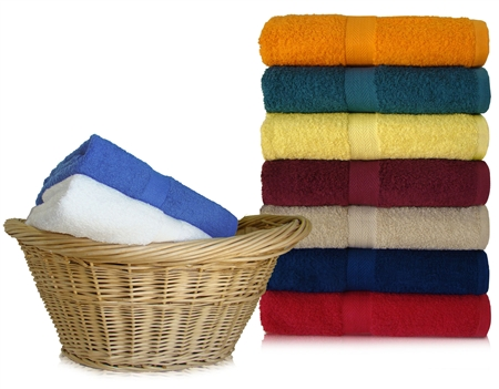 24x48 Bath Towels By Royal Comfort Assorted Colors
