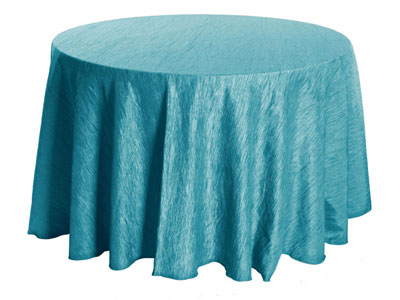 Get 120 round crinkle taffeta tablecloth rental online for 120 table cloth rental