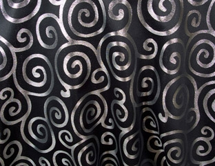 Metallic Scroll 108 Round Tablecloth