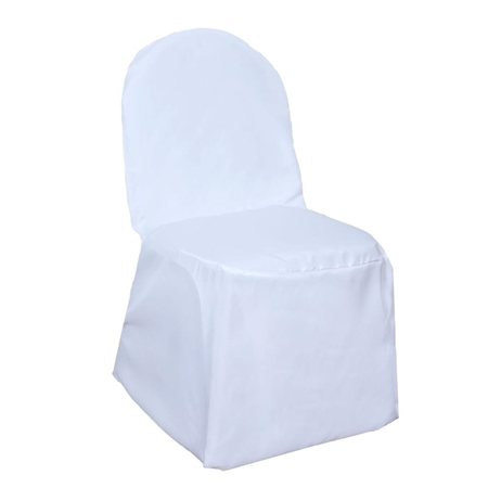 Poly Banquet Chair Cover White