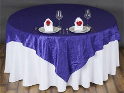 Crinkle Taffeta Tabletop Overlays